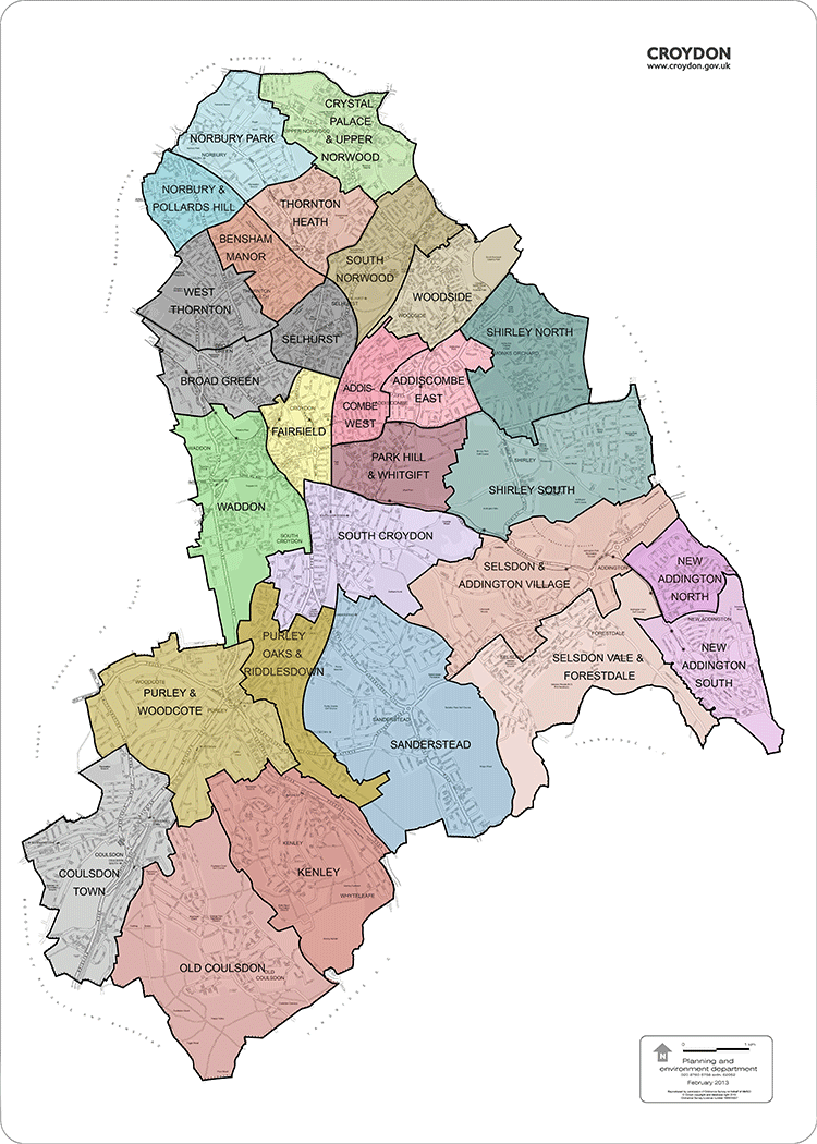 Croydon Ward Map